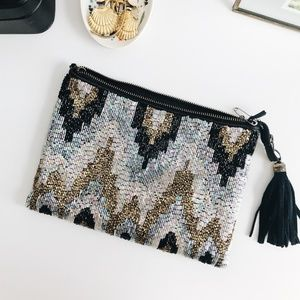 Ecote | Beaded clutch/crossbody bag